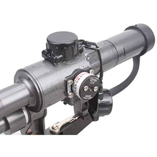 Vector Optics Rifle Scope 3 Vector Optics SVD Dragunov 4x24mm First Focal Plane (FFP) Tactical Riflescope with Red Illuminated Rangefinding Reticle