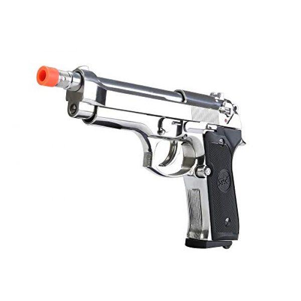 BULLDOG AIRSOFT Airsoft Pistol 2 SR92 Co2 Blowback Silver Airsoft Pistol [Airsoft Blowback]