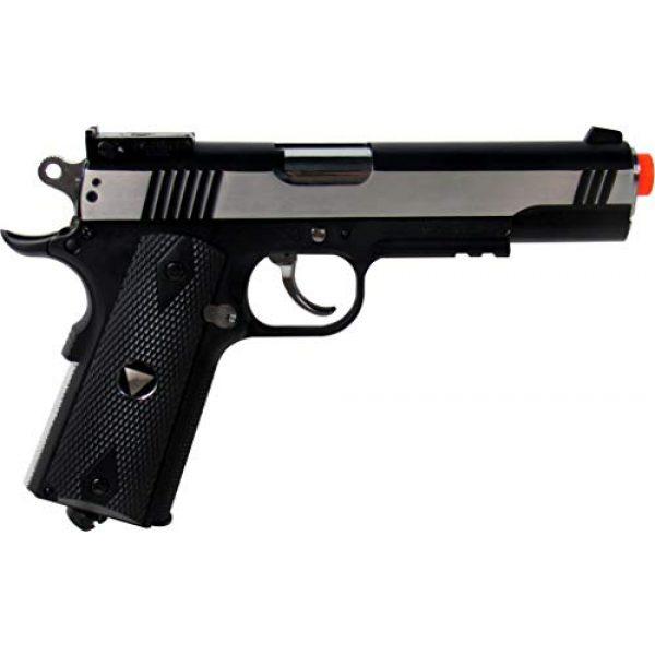 WinGun Airsoft Pistol 2 WinGun WG Special Combat Pistol 1911 CO2 Blowback Airsoft Gun Silver and Black
