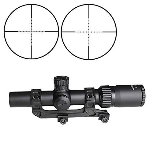 SPINA OPTICS Rifle Scope 1 SPINA OPTICS Riflescope BM WA 1-5X24 IR Tactical Optic Sight Wide Angle Red Dot Illuminated Rifle Scope for Hunting Shooting