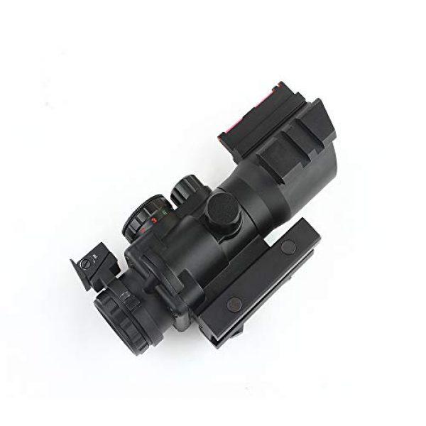 HONESTILL Rifle Scope 6 HONESTILL 4x32 Tactical Rifle Scope Red Dot Sight 20mm Dovetail Reflex Optics Scope with Fiber Optic Sight