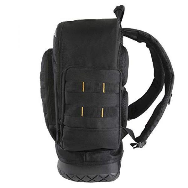 HIGHLAND TACTICAL Tactical Backpack 7 Highland Tactical Men's Task Tool Backpack with Molle Webbing, Black, One Size
