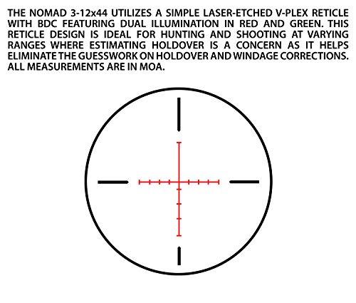 Atibal Rifle Scope 5 ATIBAL Nomad 3-12x44, Black, AT-NMD-31244