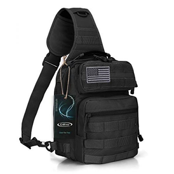 G4Free Tactical Backpack 1 G4Free Tactical Sling Bag Backpack Military Rover Shoulder Sling Pack Molle EDC Small Crossbody Chest Pack