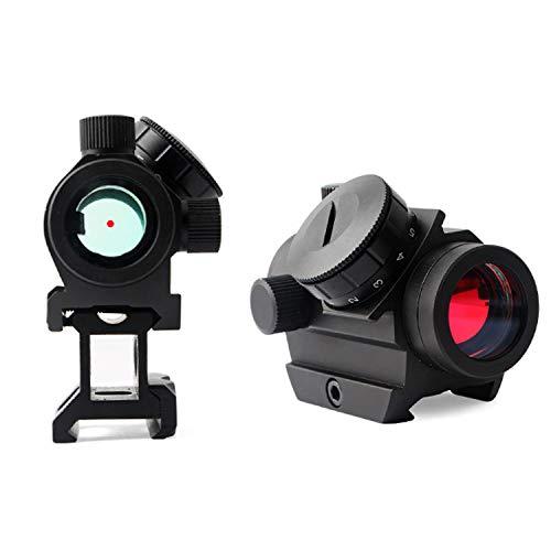 QILU Rifle Scope 5 QILU 1x25mm Tactical Red Dot Sight | 3-4 MOA Compact Red Dot Scope | Reflex Rifle Optic with 11 Adjustable Brightness Settings | Reddot Gun Scope with 1 Inch Riser Mount