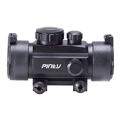 Pinty Rifle Scope 5 Pinty 30mm Reflex Red Green Dot Sight Scope 0.5 MOA with Flip Up Lens Cover Cap