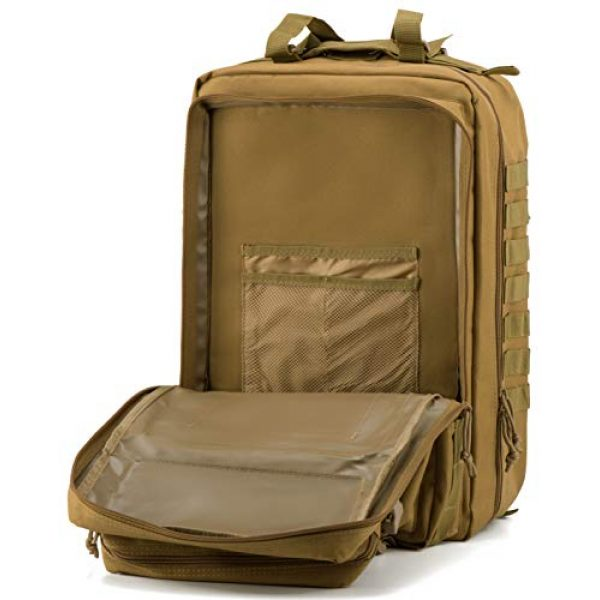 Luckin Packin Tactical Backpack 6 Luckin Packin Military Tactical Backpack, Molle Bag, Rucksack Pack, 45 Liter Large