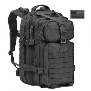 REEBOW GEAR Tactical Backpack 1 REEBOW G Military Tactical Backpack,Small Molle Assault Pack Army Bug Bag Backpacks Rucksack Daypack with Tactical US Flag Patch Black