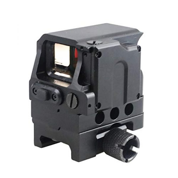 DJym Rifle Scope 2 DJym Square Red Dot Sight, Universal Scope 7 File Lighting Adjustment