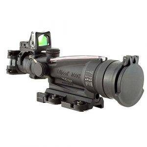 Trijicon Rifle Scope 1 Trijicon ACOG Dual Illuminated Red Horseshoe Rifle Scope with 9.0 MOA RMR Sight and LaRue Tactical Mount