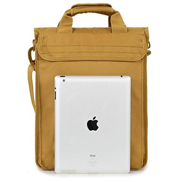 "Seibertron Tactical Backpack 3 Seibertron Expandable 14"" Laptop Waterproof Messenger Bag Multiple Pockets & Compartments Carry as Messenger Bags Khaki"