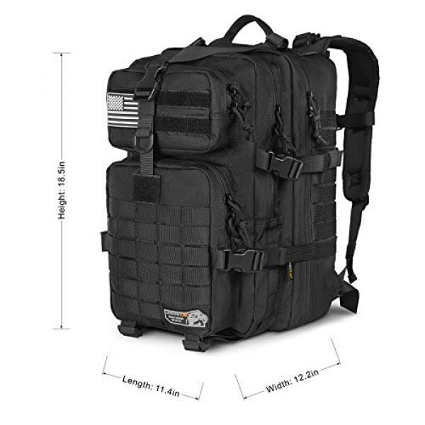 LeisonTac Tactical Backpack 4 LeisonTac 42L Tactical Backpack Military ISO Standard with Hydration Bladder Compartment
