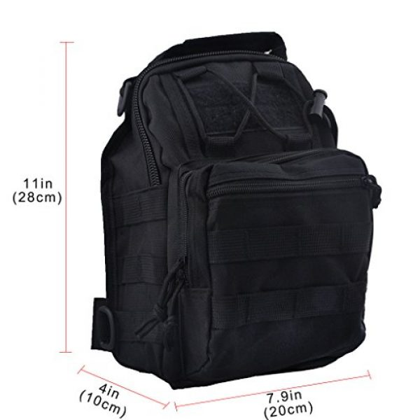 Qcute Tactical Backpack 3 Qcute Tactical Bag, Single Shoulder Messenger Bag, Chest Bag, Casual Office Tactical Satchel, Small Tool Backpak, Bag Which is Suitable for Carrying ipad, Smart Phone, Wallet and Daily Necessities