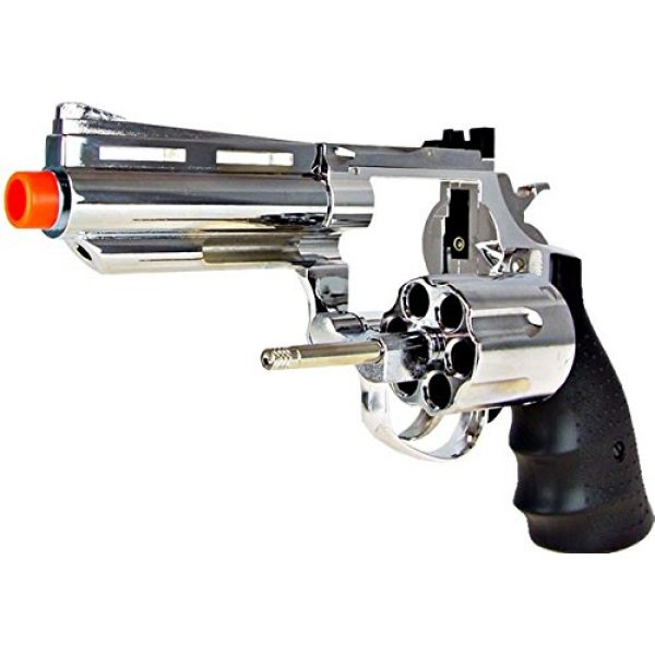 HFC Airsoft Pistol 2 HFC model-132 4 revolver a2 silver by hfc(Airsoft Gun)
