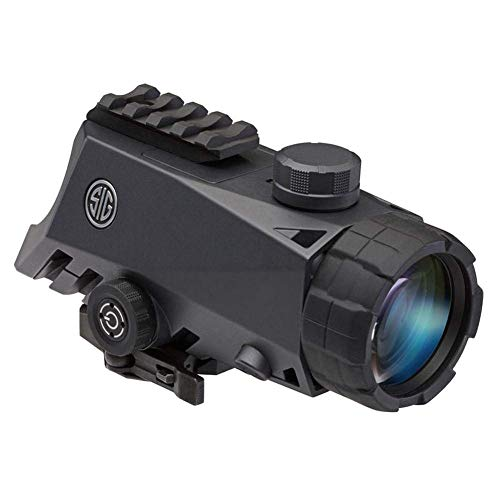 Sig Sauer Rifle Scope 1 Sig Sauer Bravo4 4x30mm Graphite Illum. 5.56/7.62 Horseshoe Dot Reticle Battle Sight