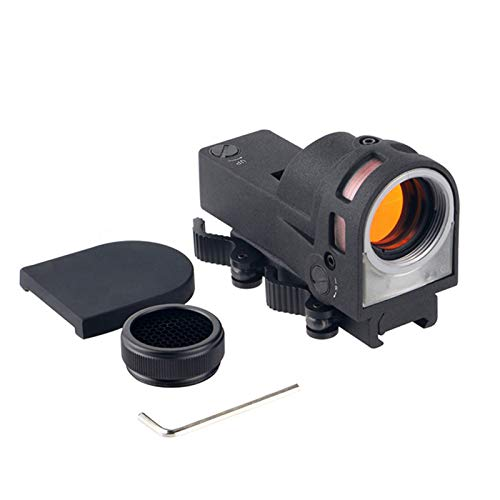 UELEGANS Rifle Scope 1 UELEGANS Red Dot Tactical Self-Illuminated Reflex Sight for Shooting Riflescope with Kill Flash Anti Reflection Device Protector for Hunting, Sport Shooting Airsoft