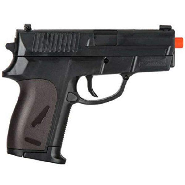 MilSim Airsoft Pistol 5 Twin Spring Dual Airsoft Pistol Combo Pack Set Hand Gun w/Case 6mm BB BBS