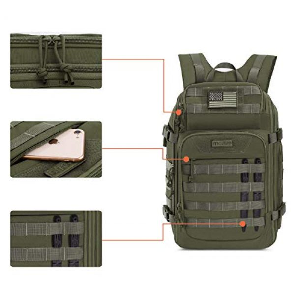 MOSISO Tactical Backpack 3 MOSISO 30L Tactical Backpack, Military Daypack 3 Day Assault Molle Rucksack Bag