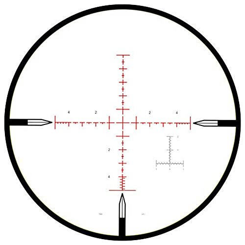 NightForce Rifle Scope 7 NightForce ATACR 5-25x56mm F1 ZeroStop .1 Mil-Radian DigIllum PTL Mil-R, Black, 34mm