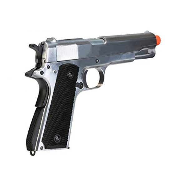 BULLDOG AIRSOFT Airsoft Pistol 6 SR1911 Airsoft Gas Pistol with Free Speed Loader BBS and Gun Case [Airsoft Blowback]