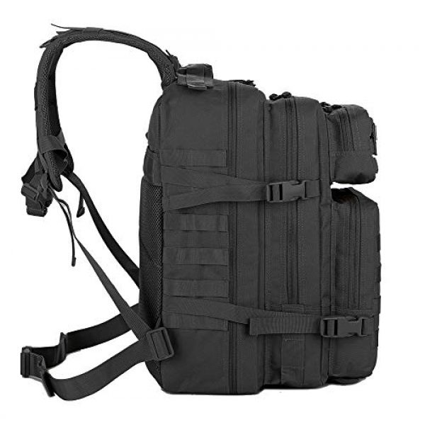 QT&QY Tactical Backpack 3 QT&QY 45L Military Tactical Backpacks Molle Army Assault Pack 3 Day Bug Out Bag Hiking Treeking Rucksack