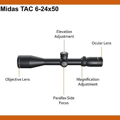 Athlon Rifle Scope 2 Athlon Optics Midas Tac Rifle Scope 6-24x50 MOA Reticle Bundle with a Lumintrail Cleaning Cloth