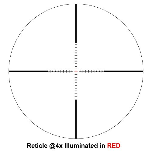 Hammers Rifle Scope 4 Hammers 1inch Tube 4-16x40 Side Focus 1st First Focal Plane FFP Range Finding Jumbo Wheel Side Focus Rifle Scope with Green Red Illuminated Range Etched Glass Reticle