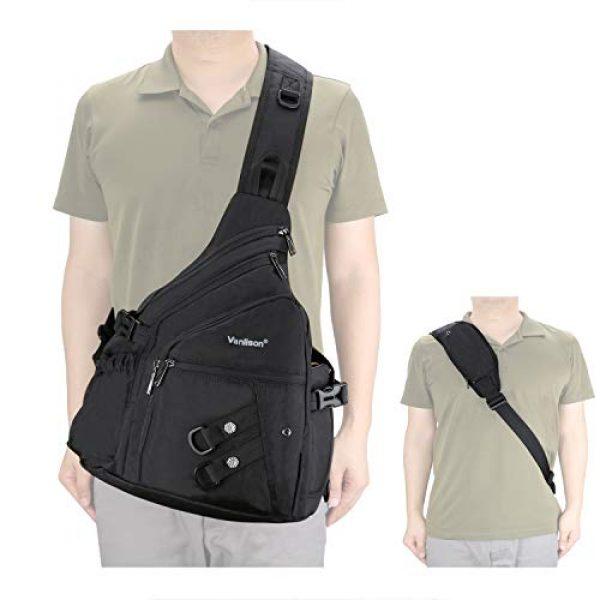Vanlison Tactical Backpack 2 Vanlison Sling Backpacks, Sling Chest Bags Shoulder Crossbody Bags for Men Women Outdoor Travel Walking Dog Running