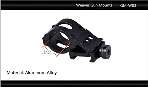 "Tactical Scorpion Gear Rifle Scope 2 Tactical Scorpion Gear TSG-GMW03 Cantilever Weaver Scope Flashlight Mount 25.4mm 1""- Black"