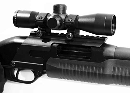 TRINITY Rifle Scope 1 Trinity 4x32 mildot Reticle Aluminum Black Picatinny Weaver Mount Adapter Tactical Optics Hunting Scope Single Rail Base for Stevens 320