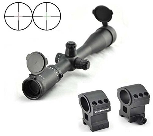 Visionking Rifle Scope 3 Visionking Rifle Scope 4-16x44 Riflescope Side Focus Mil-dot for Hunting Tactical Color Black with Mount Ring
