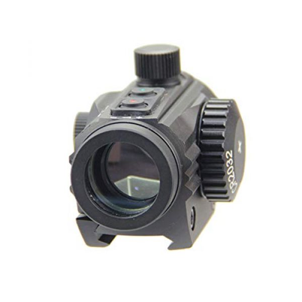 DJym Rifle Scope 4 DJym HD Silver Film Without Magnification, Red Dot Sight Shockproof Waterproof Stable Sight