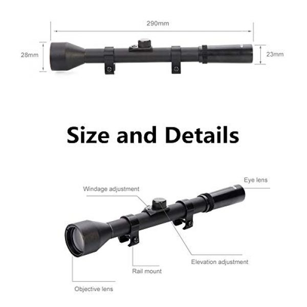 Luger Rifle Scope 2 Luger Tactical 4X Rifle Scope Hunting Shooting Outdoor Sports Game Toy Accessories