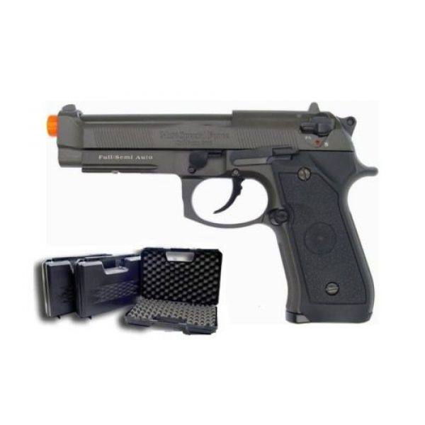 HFC Airsoft Pistol 5 HFC full metal gas powered blowback airsoft pistol m9 with gun case new 320 fps(Airsoft Gun)
