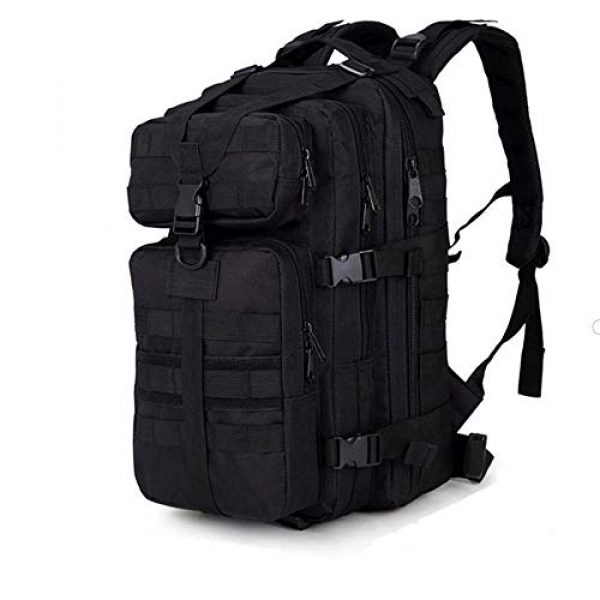 Cadet Gear Tactical Backpack 1 Tactical Assault Pack, Black Military Backpack, Army Survival Molle 35L, 40L