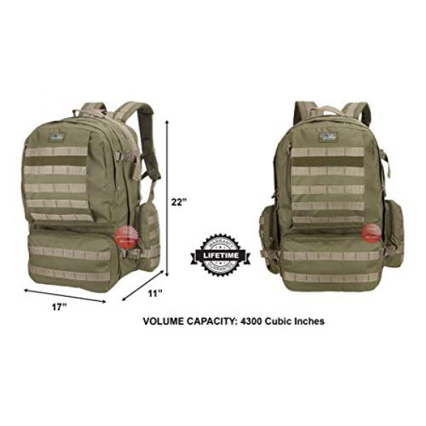 NPUSA Tactical Backpack 7 NPUSA Mens 22 Inch Large Military Tactical Gear Molle Hydration Ready Hiking Backpack Bag + Flashlight