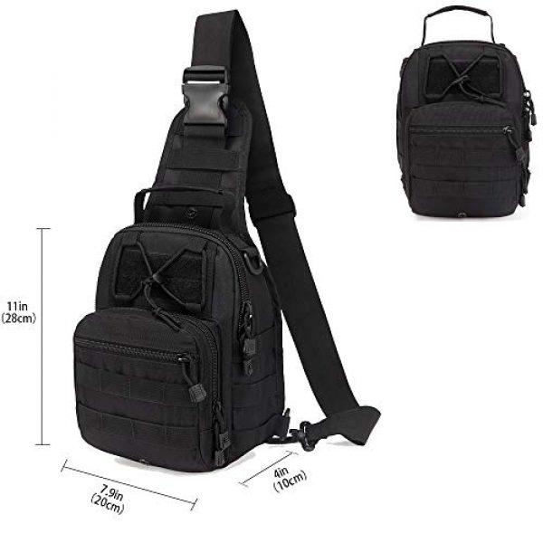 hopopower Tactical Backpack 2 Hopopower Tactical Sling Bag Pack Crossbody Shoulder Backpack Sport Daypack for Men