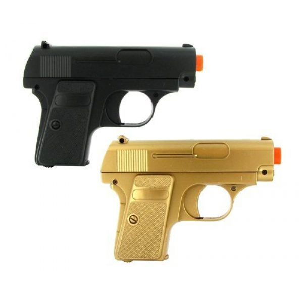 Platnium Sales Airsoft Pistol 1 double eagle twin p328 spring pocket pistols airsoft guns black and gold(Airsoft Gun)