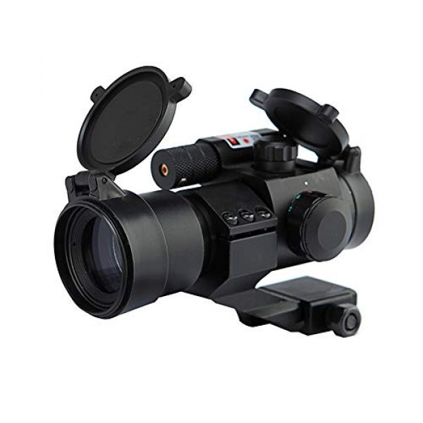 DJym Rifle Scope 1 DJym HD Blue Film Without Magnification, Inner Red Dot Sight with Red Professional Shockproof Waterproof Anti-Fog Sight