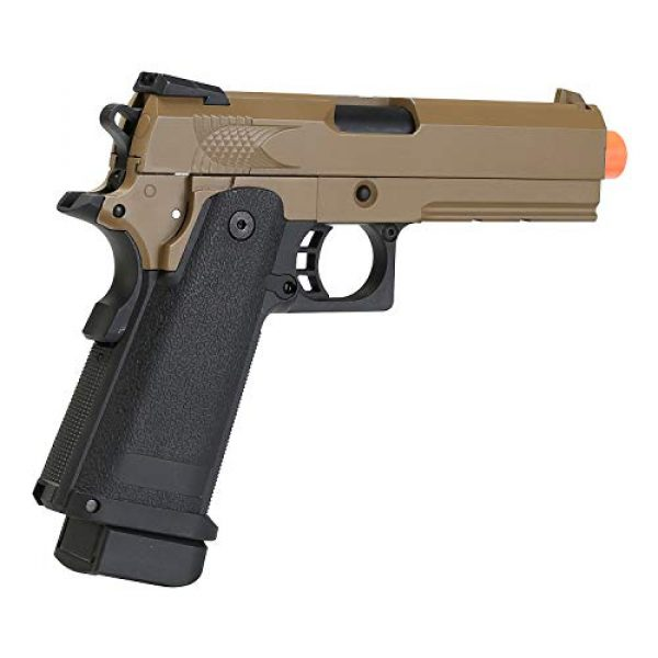 BULLDOG AIRSOFT Airsoft Pistol 3 Airsoft HI-CAPA 4.3 Desert Green Gas Pistol with Free Speed Loader BBS and Gun Case [Airsoft Blowback]