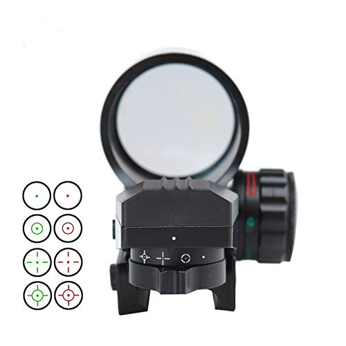 Without Rifle Scope 4 Toy Gun Sight Red dot Sight Magnification Color Black