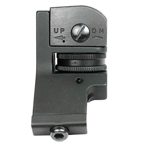 KTAIS Rifle Sight 4 KTAIS US 45 Degree Offset Front&Rear Rapid Transition BUIS Adjustable Iron Sight Set (Color : Black)