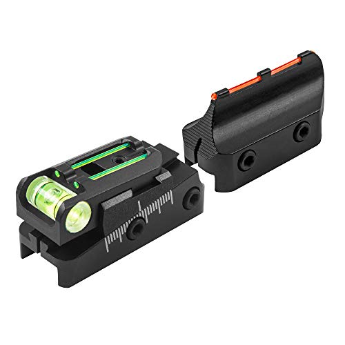TRUGLO Rifle Scope 1 TRUGLO TruPoint Xtreme Universal Shotgun Sights with Luminescent Alignment Level and Elevation Ramp for Ribbed Shotgun