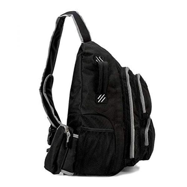 K-Cliffs Tactical Backpack 3 K-Cliffs Heavy Duty Sling Backpack Water-Resistant Laptop Bookbag Body Bag Bright Color Safety Reflective Stipe