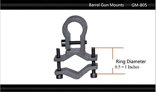 Tactical Scorpion Gear Rifle Scope Accessory 3 Tactical Scorpion Gear TSG-GMB05 Aluminum Barrel Mount Scope Laser Mount - Black