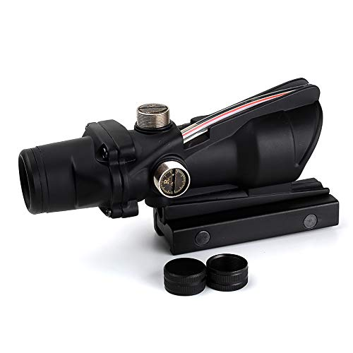 Armybase Rifle Scope 6 Armybase Riflescope ACOG 4X32 Real Fiber Optics Red Dot Illuminated Chevron Glass Etched Reticle Tactical Optical Sights Scope
