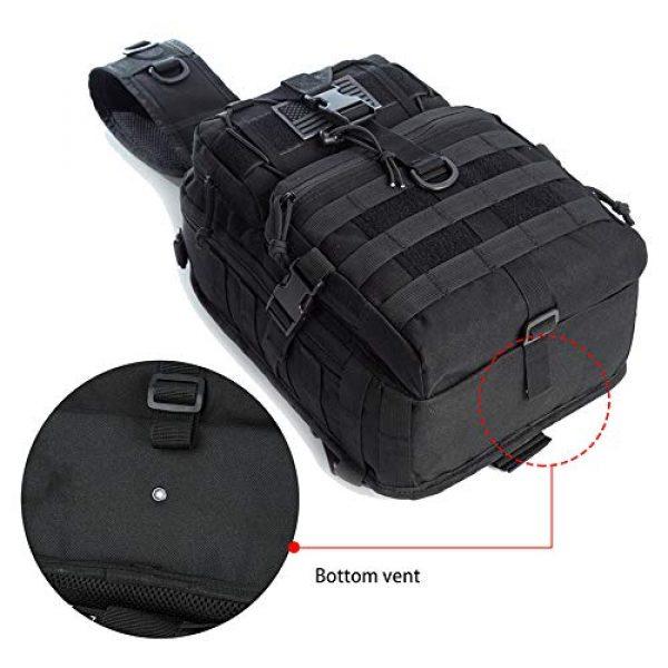 J.CARP Tactical Backpack 6 J.CARP Tactical EDC Sling Bag Pack, Military Rover Shoulder Molle Backpack, with USA Flag Patch