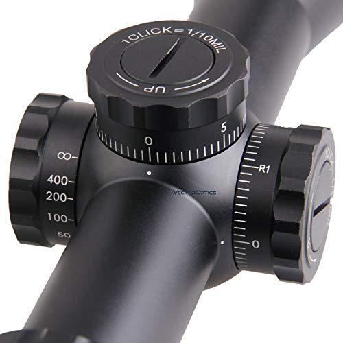 TAC Vector Optics Rifle Scope 5 TAC Vector Optics Marksman 10x44 Hunting Long Eye Relief Varmint Riflescope Glass Reticle with 30mm Mount Ring