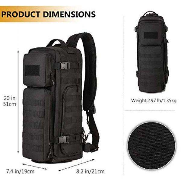 Protector Plus Tactical Backpack 4 Protector Plus Tactical Sling Bag Military MOLLE Crossbody Pack Assault Range Chest Shoulder Backpack EDC Diaper Satchel Motorcycle Bicycle Outdoor Daypack (Patch Included)