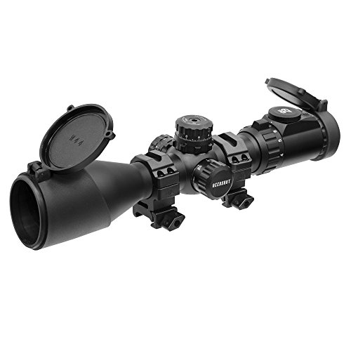 UTG Rifle Scope 2 UTG 4-16X44 30mm Compact Scope, AO, 36-color Glass Mil-dot